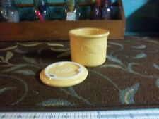 Longaberger Woven Traditions -harvest gold Pint Crock & Lid /coaster -5