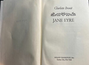 Jane Eyre by Charlotte Bronte Vintage Book Nelson Doubleday Inc.