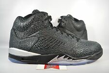 NEW Nike Air Jordan V 5 3LAB5 NIKELAB BLACK METALLIC SILVER 599581-003 sz 17