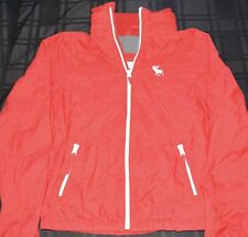 Abercrombie & Fitch Ranney Trail Windbreaker Jacket Red - Size Large