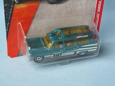 MATCHBOX 1963 CADILLAC ambulanza ospedale medico verde USA Retrò 75mm nella BP