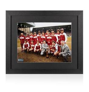 Graeme Souness Signed Liverpool Photo In Black Wooden Frame Autograph