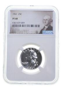 1961 PF68 Proof Washington Quarter NGC Graded - White Coin Spot Free PR *0884