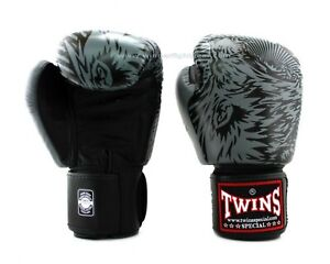 Twins Fancy Boxing Gloves FBGV-50 10 oz Black/Grey Express Delivery