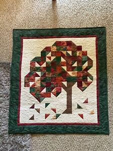 Wall Hanging, Quilted Wall Hanging, Art Quilt, Abstract Landscape, Autumn