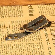 EDC Pocket Steel Waist Belt Hanger Money Clip Keychain Bottle Opener Screwdriver