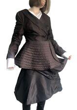 IVAN GRUNDAHL Blazer Peplum Asymmetric Pleated Wrap Jacket Size 42