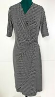 Perri Cutten Mid Sleeve Stetchy Wrap Style Chain Print Dress Size S