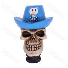 Blue Hat Skull Universal Manual Car Resin Gear Shift Knob Shifter Lever Cover