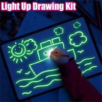 LED Drawing Board Graffiti Doodle Drawing Tablet Magic Draw Craft Art for Kid