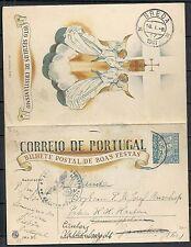 Portugal 1941 cens PC Bilhete Postal de Boas Festas redirekted