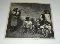 1880 magazine engraving ~ A GROUP OF THUGS, India