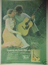 1974 Fender Flat Top~F Series Guitars Music Memorabilia Large Print 10 x 14.5 AD