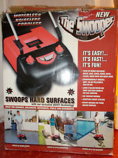 Swooper Outdoor Sweeper Picks up Rocks, Cans, Leaves, Grass from Hard Surfaces