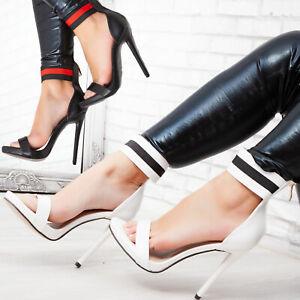 Scarpe donna simil pelle cinturino decollete tacchi alti plateau TOOCOOL X8020