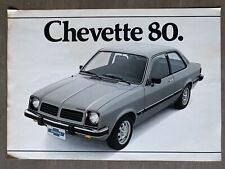 1980 Chevrolet Chevette original Brazilian sales brochure (2P)