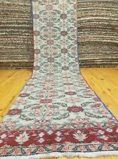 "Genuine 1920-1940's Antique Wool Pile 2'6""×9'6"" Muted Dye  Bunyan Runner Rug"