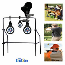 Metal Shooting Targets Gun Spinning Target Pistol Rifle Practice Aim Shoot Fire