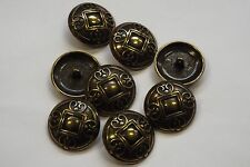 8pc 23mm Antique Gold Arts & Craft Inspired Cardigan Knitwear Baby Button 3313