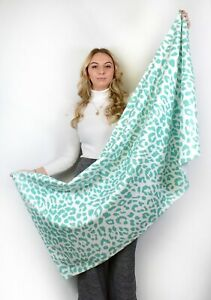 Teal Leopard Print - Beach Towel