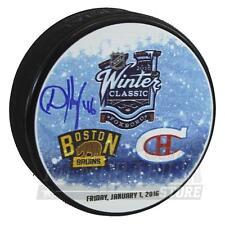 David Krejci Boston Bruins Signed Autographed 2016 Winter Classic Hockey Puck