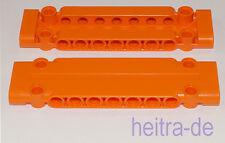 LEGO Technik - 2 x Panel Platte 3x11x1 orange / Panel Plate / 15458 NEUWARE