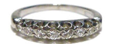 ANTIQUE PLATINUM 900 100 IRIDIUM .17CT DIAMOND ENGAGEMENT WEDDING RING BAND