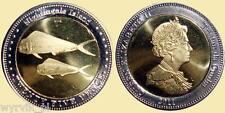 TRISTAN da CUNHA Nightingale Islands 2011 fishes fish 25 pence bimetal UNC #S18