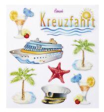 Hobbyfun 3452466 Design Sticker Kreuzfahrt Aufkleber Urlaub Schiff Palmen