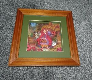 Decoupage Red Riding Hood Picture & Frame