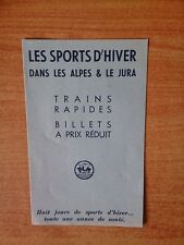 prospectus PLM : LES SPORTS D'HIVER DANS LES ALPES & LE JURA trains rap