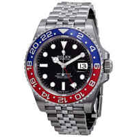 Rolex GMT-Master II Pepsi Blue and Red Bezel Stainless Steel Jubilee Watch