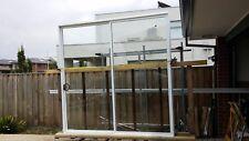 WHITE 2100HX1400W ALUMINIUM SLIDING DOOR WITH 6.3 CLEAR LAMINATED GLASS