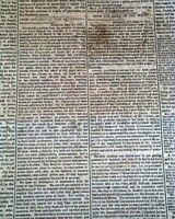 Rare NEW ORLEANS LA Louisiana Deep South CONFEDERATE Civil War 1861 Newspaper