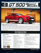 Prospekt brochure 2013 Ford Mustang Shelby GT500 Super Snake (USA)