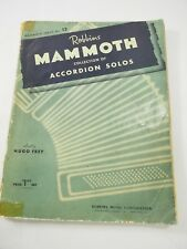 Robbins Mammoth collection of Accordion Solos by Hug Frey 1943