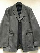Paul Smith Mainline Casual gris veste en tweed, taille 42/44 - p2p 22.5""