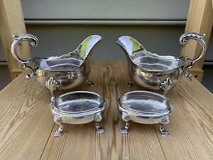 A Group of Sterling Silver Sauce Boats