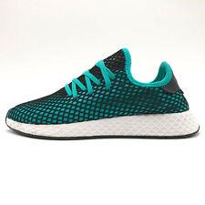 adidas Deerupt Runner Teal Running Shoes Sneakers Men's 7.5