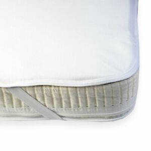 Cot Waterproof Mattress Protector Cover in a High Quality Brushed Cotton Top ...