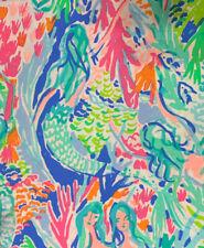 "36""x51"" Yard AUTHENTIC Fabric PB Lilly Pulitzer Mermaid Cove Organic Cotton"