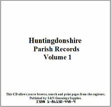 Huntingdonshire Parish Registers - Complete Phillimore Marriages Records