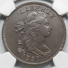 1797 S-120b NGC AU Details Gripped Edge Draped Bust Large Cent Coin 1c