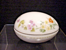 Wedgwood Egg Trinket Box Beautiful Flower Pattern Made in England