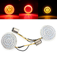 """2"""" 1157 Rear LED Turn Signal Inserts Bullet Style For Harley Touring Road Glide"""