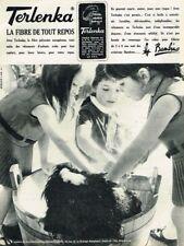 K- Publicité Advertising 1965 Pret à porter vetement enfants Fibre Terlanka