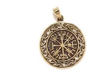 Kompass Knoten Winrar Wikinger Anhänger Bronze Symbol Schmuck - Neu