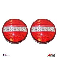 2x LED ROUND REAR TAIL LAMP LIGHTS INDICATOR STOP TRAILER TRUCK TIPPER LORRY 12V
