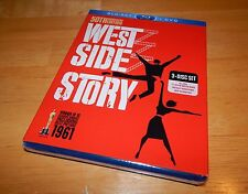 West Side Story Blu-ray/DVD 3-Disc 50th Anniversary Ed. New Sealed! w/ Slip!