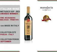 6 bottles Italian Red Wine| Vino Rosso pregiato| Metiusco IGP Red- PLURIPREMIATO